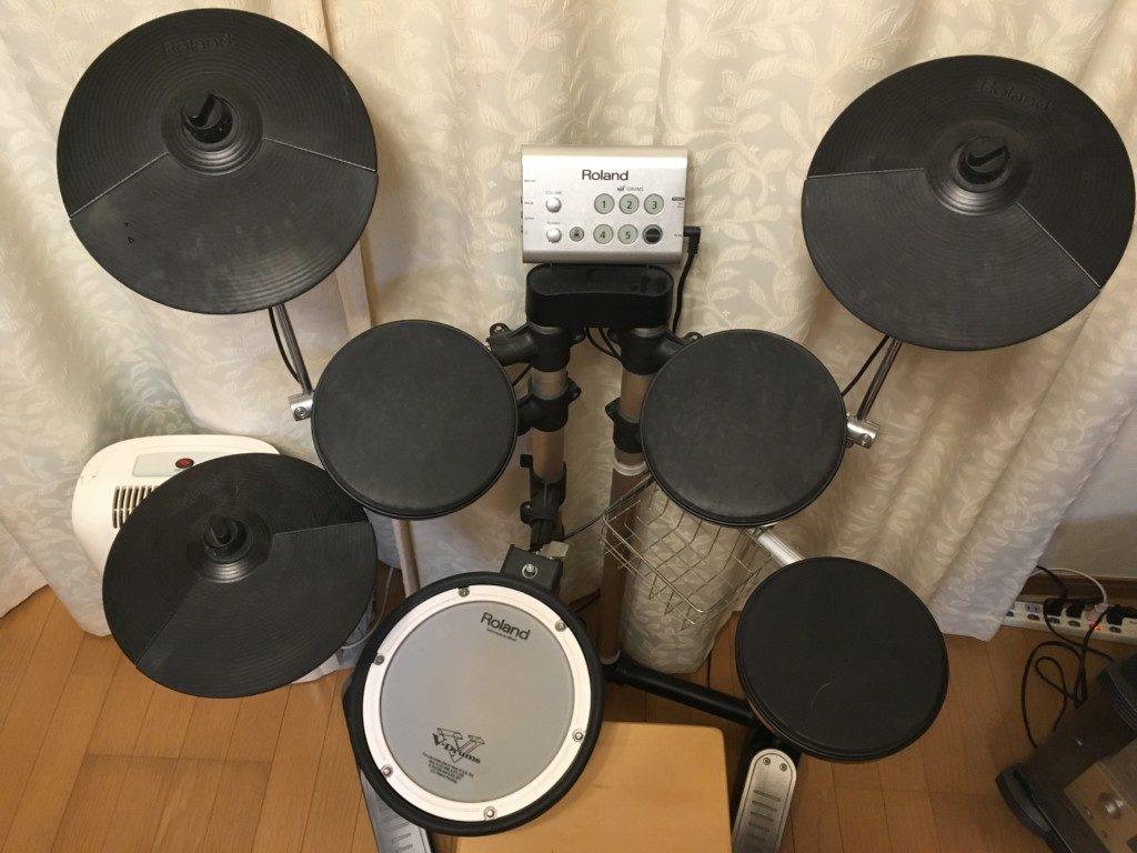 Roland電子ドラム上