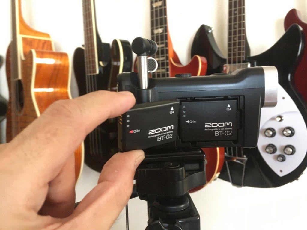 ビデオカメラバッテリー交換