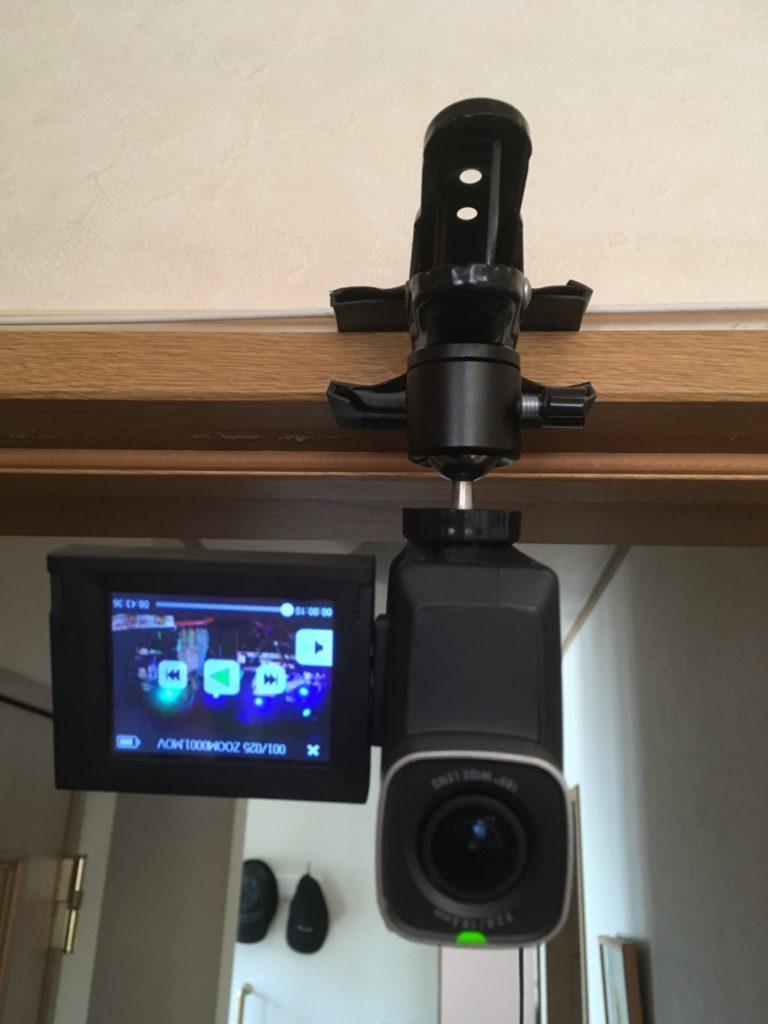 ビデオカメラクリップ取付